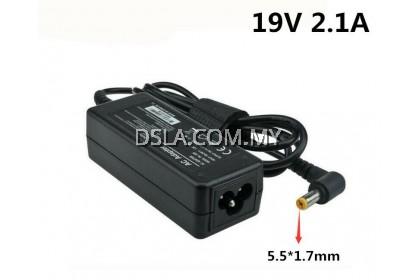 ACER 19V 2.1A (40W) ( 5.5*1.5/1.7mm ) Adapter Charger E5-422 E5-473G ES1-131 ES1-311 R3-471T V3-472 D255 ES1-421 E5-532