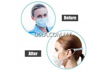 10PCS Face Mask Ear Hooks Buckle Mask Fixing Buckle Adjustable Ear Strap Extension Soft Plastic Buckle for Adult Child For Disposable Mask N95 KF94 Mask Dust Mask (Blue)