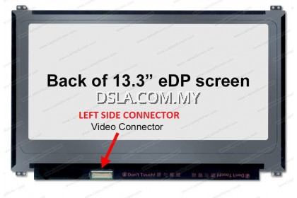 13.3 FULL HD IPS 1920 X 1080 30PIN ( LEFT SIDE CONNECTOR ) B133HAN02.7 B133HTN01.4 LAPTOP REPLACEMENT SCREEN