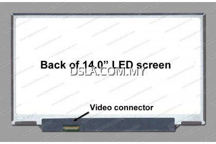 14.0 Slim 40pin HD + 1600 X 900 (NO BRACKET LEFT CONNECTOR) LP140WD2 (TL)(E2) LAPTOP LED REPLACEMENT SCREEN